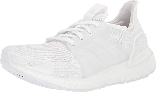 adidas Women's Ultraboost 19 Running Shoe, White/Grey/Black, 11 M US