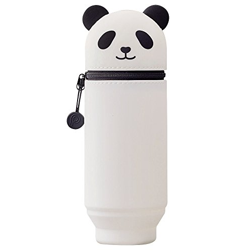 LIHITLAB PuniLabo Stand Up Pen Case (Pen Holder), Large, 2.9' x 8.3', Panda (A7714-6)