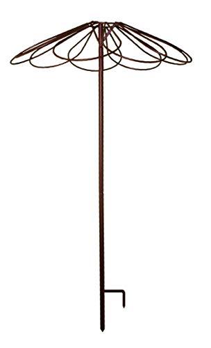 3646Louis Windmühle Garten Regenschirm mit 9Petals Antik Eisen Aged Metall 250cm