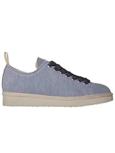 Pànchic Zapatillas de mujer, lona de lino, azul, cordones azules, edición limitada 2021 Azul Size: 36 EU