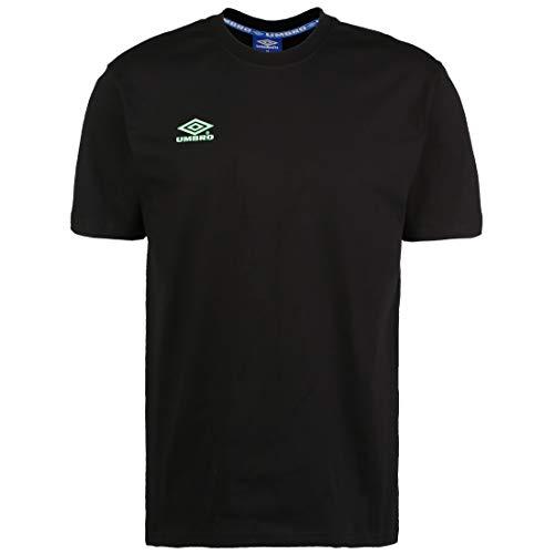 UMBRO Classico 2 Crew T-Shirt Herren schwarz/türkis, S