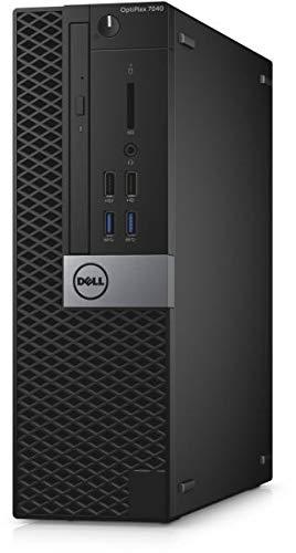 Dell OptiPlex 7040 SFF 6th Gen Core i3-6100 8GB 500GB DVDRW HDMI WiFi Windows 10 Professional Desktop PC Computer (Renewed)
