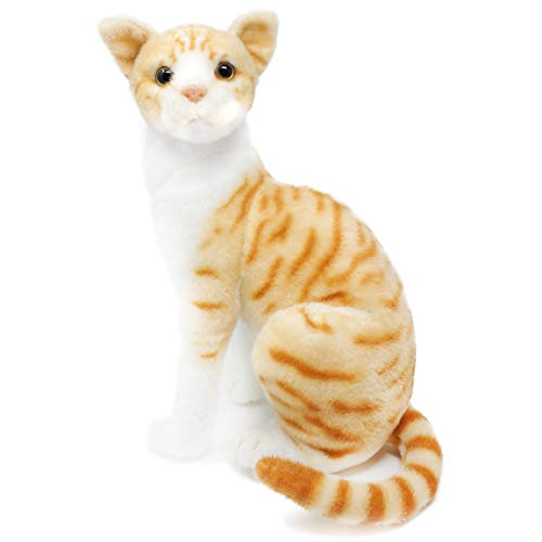 Tobias The Orange Tabby Cat | 12 Inch Stuffed Animal Plush | by Tiger Tale Toys
