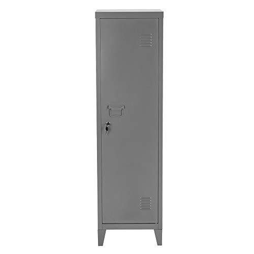 FurnitureR 54.1' High Standing Metal Locker Storage Cabinet 3-in-1 Shelves Removable with Keys Lockable