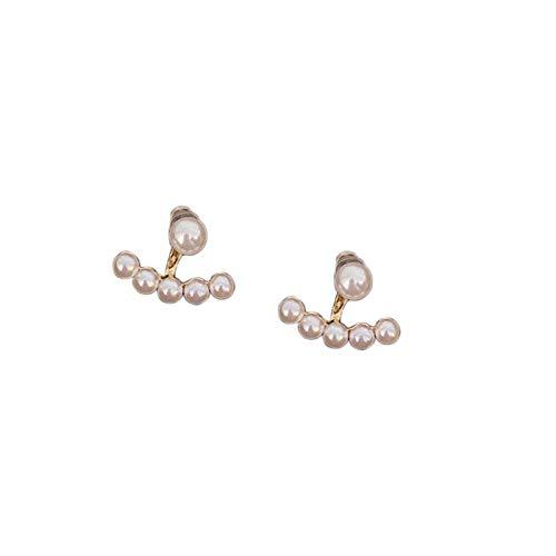 Pendientes de perlas para mujer, moda hipoalergénica para niñas, pendientes de perlas, pendientes colgantes, joyería, regalos (A)