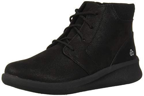 Clarks Women's Sillian 2.0 Way Ankle Boot, Black Synthetic Nubuck, 8.5 M US