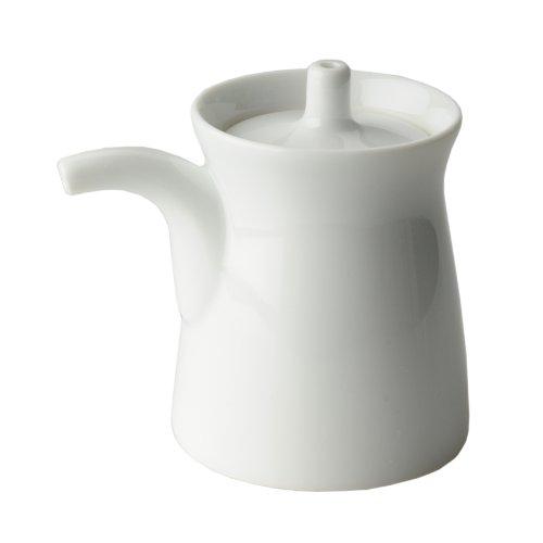 白山陶器 波佐見焼 G型しょうゆさし 大 白磁 (約)6.8 x 9cm 120ml 日本製