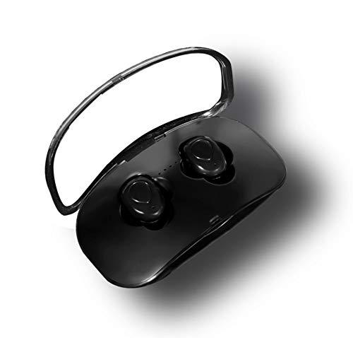 EASON Bluetooth Headset, 5.0 Mini Binaural Wireless Earbuds Best Wireless Sports Headphones Waterproof Music in-Ear Earphones for Gym Running Exercises