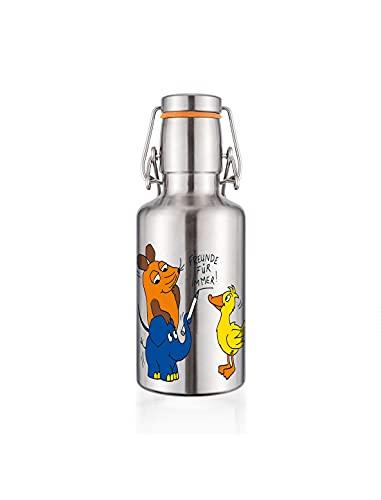 """soulbottle steel light • """"die maus & freunde' • 0,5 l • einwandige Trinkflasche aus Edelstahl"""