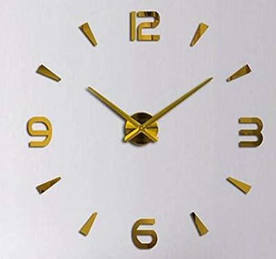 GUAZHBIAO Creative Wall Clock, Acrylic Foam Wall Clock,Mirror Gold,80~120cm