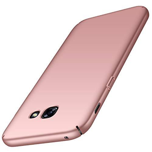 Avalri Cover Samsung A5 2017, Minimalista Design Ultra Sottile Case Rigida in PC Antiurto Anti-Graffio Custodia per Samsung Galaxy A5 2017 (Oro Rosa Liscio)