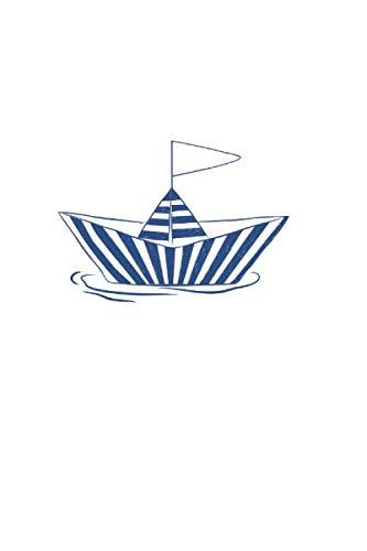 Papier-Schiffchen: Din A5 Notizbuch liniert | Tagebuch | Planer | Skizzenbuch | Zeichenbuch | Malbuch | 120 Seiten, glänzendes Softcover