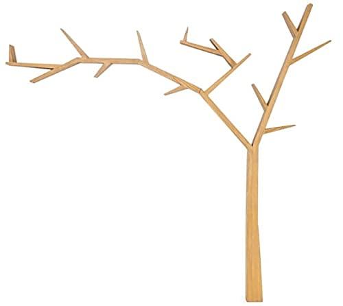 Półka drzewko POPRAD drewniana lewa brąz miodowy Signal