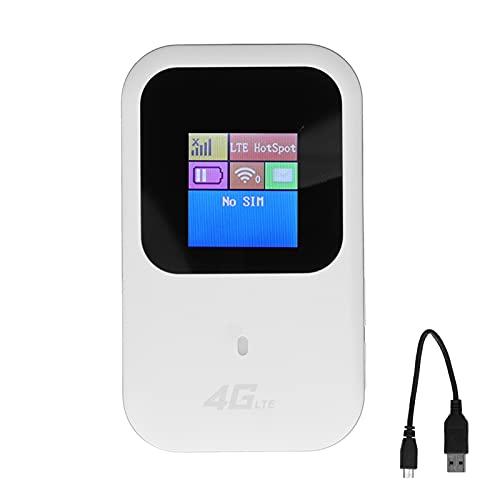 PUSOKEI Hotspot Mobile con Schermo LCD, Mini Adattatore di Rete conveniente, Modem Router WiFi Dual Band 150Mbps FPC Atenna, Supporto Mimo
