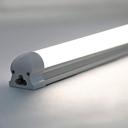 Atlaz LED Röhre 120cm Leuchtstoffröhre komplett mit Fassung, 18W 1700lm 6000K Kaltweiß, Lichtleiste, durchverdrahtet und erweiterbar, Transparente Abdeckung[Energieklasse A+]