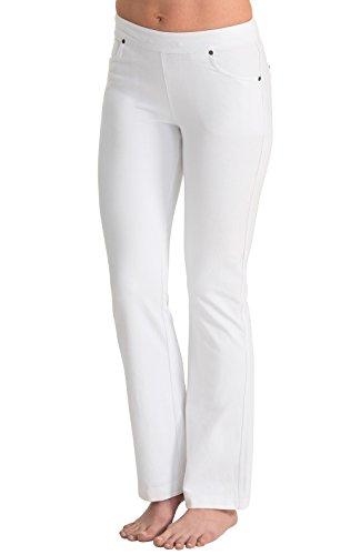 PajamaJeans Women's Plus Size Jeans - Womens Plus Size Bootcut, White, 3X