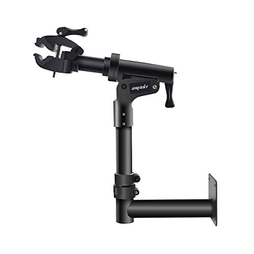 unisky Bike Repair Stand Wall Bench Mount Pro Home Bicycle Mechanics Repair Workstand Shop Cycle Maintenance Rack for Mountain and Road Bikes