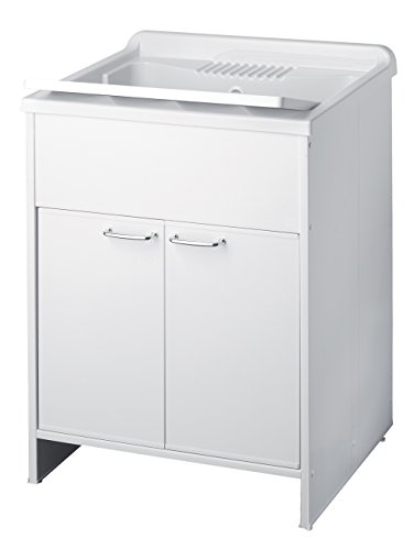Negrari 9002K - Lavatoio Lavapanni con Mobile in PVC, Bianco...