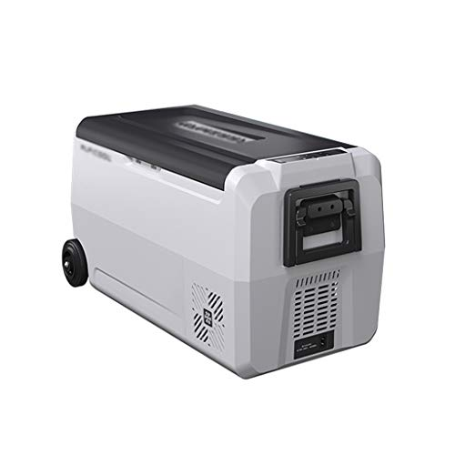 ZGM Refrigeración del automóvil compresión automática refrigerada / congelada partición de una sola puerta refrigerador pequeña para el hogar, doble uso, pequeña capacidad de 36L para viajar o acamp