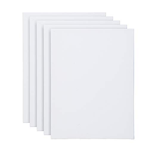 MorNon 5 Pack Artist Blank Canvas Frame Stretched Canvas Frames 40cm x 30cm (16' x 12') Stretched Art Canvas for Craft Painting Drawing
