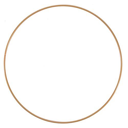 Vaessen Creative 11012-001 Metallring, Antik Gold, Spannring Ø 25 cm aus 3 mm Metalldraht zum Traumfänger Basteln, Makramee Knoten, Mandala Häkeln sowie Gestalten weiterer Wanddeko und Fensterdeko, 25