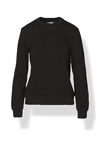 KARL LAGERFELD Damen Rhinestone Logo Sweatshirt, Schwarz, XS EU