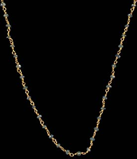 Faceted Blue Sapphire Necklace - 18 K Gold