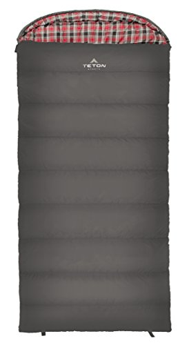 TETON Sports Celsius XXL Sleeping Bag; Great for Family Camping; Free Compression Sack, Gray