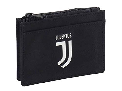 Seven Portamonete Juventus Zipper Coin, Nero