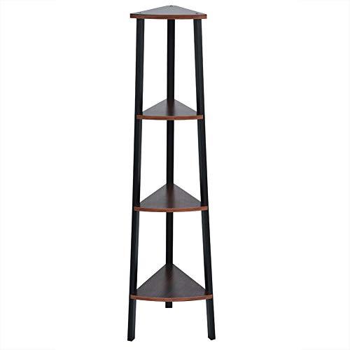 Ladder boekenkast, 4 niveaus Decoratieve hoekplank Rackstandaard Meubelopslag Organizer Houten displayrekken voor thuis Woonkamer Slaapkamer
