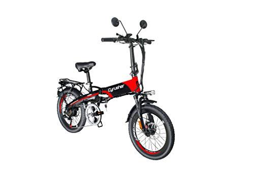 Bicicleta eléctrica Plegable Extrbici XF500 250W 48V 10A Li-Battery 20 Pulgadas Ajuste de neumáticos Ordenador Inteligente Frenos de Disco Doble con Rejilla Trasera