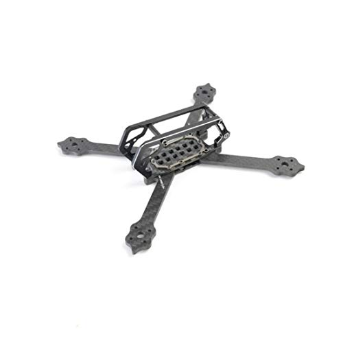 Diatone GT-M3 130mm FPV Racing Drone Frame Carbon Fiber Frame Kit Stretch X & Normal X Rack 3mm FPV Frame Arm for RC FPV Racer Drone Support 1408 4000KV Motor (Stretch X Frame Kit)