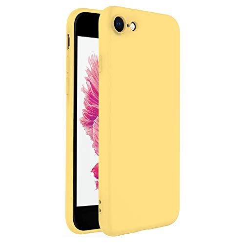 TBOC Funda para Apple iPhone 6 [4.7']- Carcasa Rígida [Amarilla] Silicona Líquida Premium [Tacto Suave] Forro Interior Microfibra [Protege la Cámara] Antideslizante Resistente Suciedad Arañazos