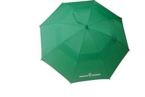 SV Werder Bremen Regenschirm, Stockschirm, XXL Schirm mit Entlüftung - Plus Lesezeichen I Love Bremen