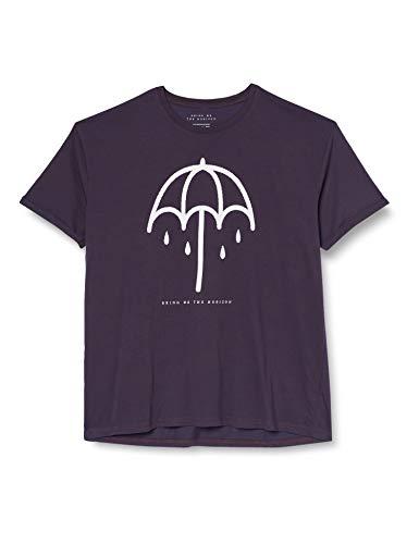 Bring Me The Horizon Umbrella with Burn out Finishing Camiseta, Morado (Purple Purple), XX-Large para Hombre