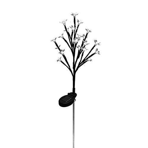 Luces solares de jardín flores ramas de flores que cambian de color de luz al aire libre jardín lámparas de estaca para patio, patio, camino, fiesta, fiesta de vacaciones pasarela