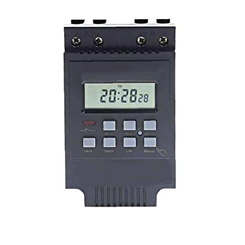 fregthf Interruptor relé Temporizador programable electrónica Digital LCD TM616B-2 Inteligente para el Control del Apagado