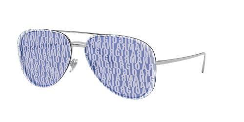Giorgio Armani 0AR6084 Gafas de sol, Silver, 63 para Mujer