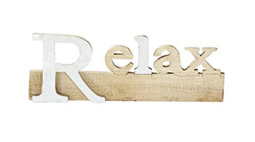 G.i.l.d.e 1 x Schriftzug Home oder Relax Breite 37 cm (Relax weiß)