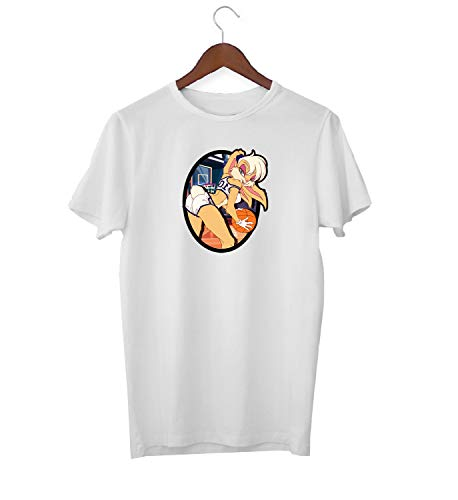 Lola Bunny Basket Ball Team Sexy Booty Game_KK016754 Shirt T-Shirt Tshirt para Hombres For Men - White