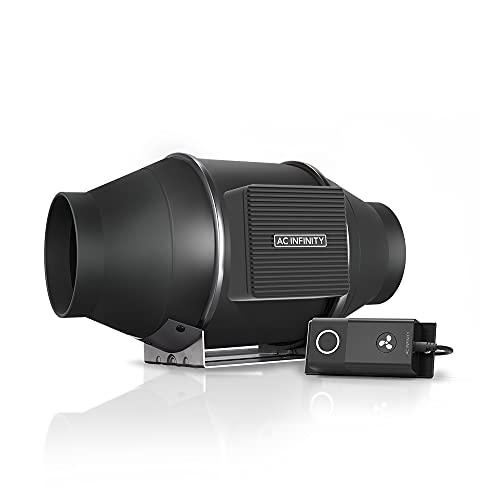 AC Infinity CLOUDLINE S4 - Ventilador en línea silencioso de 10,6 cm con regulador de velocidad - Ventilador extractor para amplificador de refrigeración, tiendas de campaña, hidropónica