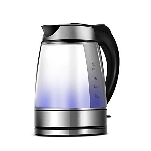 CJTMY Vidrio Caldera de té eléctrica 1.7L sin Cable Hervidor eléctrico for hervir Agua con el LED Azul