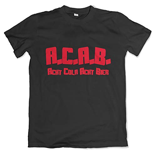 ACAB Herren T-Shirt Acht Cola Acht Bier All Cops Are Bastards S-3XL (XL)