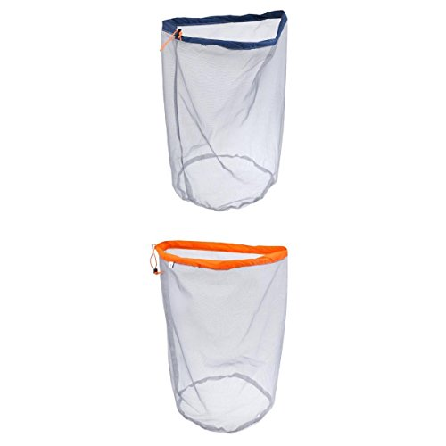 SM SunniMix 2x Multi-purpose Travel Camping Drawstring Stuff Sack Clothing Mesh Bag XL XXL