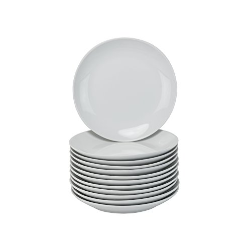 10 Strawberry Street Catering Coupe Salad Plates, White