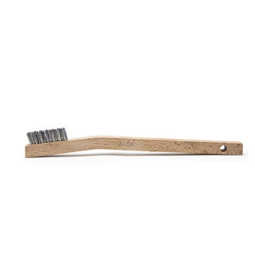 Osborn International 54033SP Shoe Handle Steel Wire Scratch Brush 5-1//4 Brush Area Length 5//8 Width 10 Overall Length 0.014 Fill Diameter