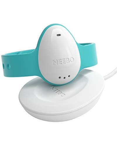 Neebo Sensor-Armband zur Atmungsüberwachung bei Babys & Kindern | misst Herzfrequenz, Sauerstoffsättigung, Temperatur & Schlafdauer |nur für Apple-Geräte (iOS), Bluetooth-fähig | Powered by Telekom