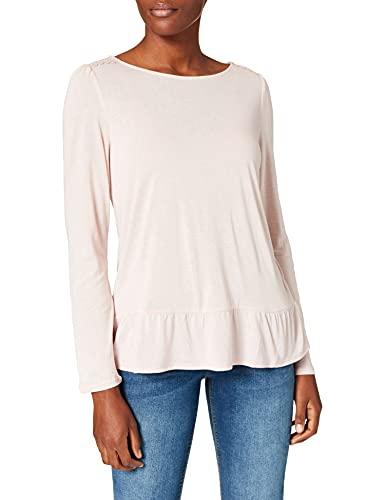 Springfield Camiseta Bajo Volante, Fucsia, XL para Mujer