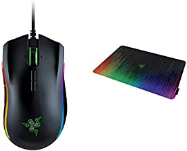Razer Mamba Elite Wired Gaming Mouse & Sphex V2 Gaming Mouse Pad: Ultra-Thin Form Factor - Optimized Gaming Surface - Polycarbonate Finish