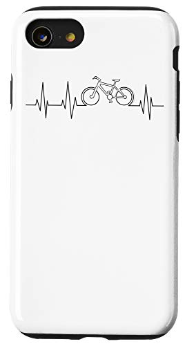 iPhone SE (2020) / 7 / 8 Cool Mountain Bike Gift Heartbeat | Funny Biking Rider Lover Case